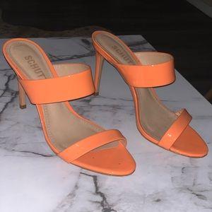 SCHUTZ orange Leia Mule